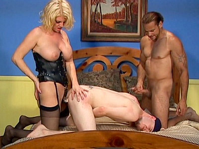 Busty blonde Kayla Quinn was up for a fuck and she was more than ready to have it She was glad to find two bisexual studs waiting for her and she didnt waste time sucking them off She then got fucked hard before she returned the favor and fucked their ass with a strap on